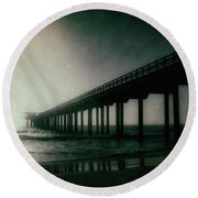 Spotlight On Scripps Round Beach Towel