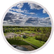 Spotlight On The Park Round Beach Towel