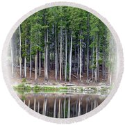 Sprague Lake 03 Round Beach Towel
