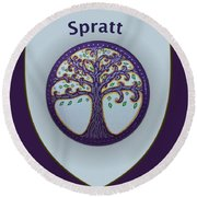 Spratt Family Crest Round Beach Towel