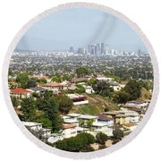 Sprawling Homes To Downtown Los Angeles Round Beach Towel