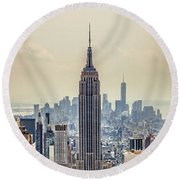 Sprawling Urban Jungle Round Beach Towel by Az Jackson