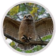 Spread Your Wings Round Beach Towel