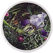 Round Beach Towel featuring the photograph Spring 2016 17 by Cendrine Marrouat