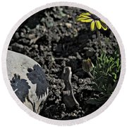 Round Beach Towel featuring the photograph Spring 2016 32 by Cendrine Marrouat