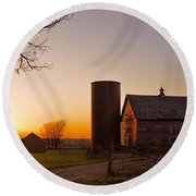Spring At Birch Barn 2 Round Beach Towel by Bonfire Photography