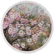Spring At Country Side Round Beach Towel