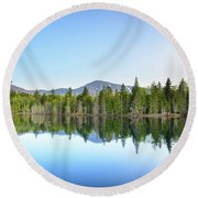 Spring At Sugarloaf  Round Beach Towel