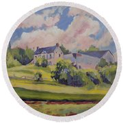 Spring At The Hoeve Zonneberg Maastricht Round Beach Towel