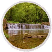 Spring At Valley Creek Round Beach Towel