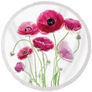Spring Bouquet Round Beach Towel by Rebecca Cozart