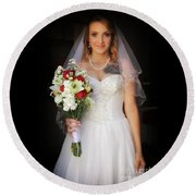 Spring Bride Round Beach Towel