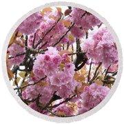 Spring Cherry Blossoms Round Beach Towel