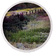 Round Beach Towel featuring the photograph Spring Colors by Kelly Wade