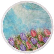 Spring Emerging Round Beach Towel