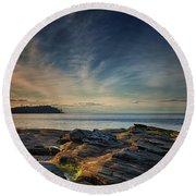 Spring Evening At Madrona Round Beach Towel by Randy Hall