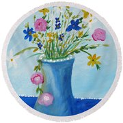 Spring Fantasy One Round Beach Towel
