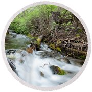 Round Beach Towel featuring the photograph Spring Flow by Fran Riley