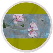 Spring Flowers  Round Beach Towel by Reina Resto