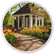 Spring Gazebo Round Beach Towel