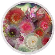 Round Beach Towel featuring the photograph Spring Glass by Jeff Burgess
