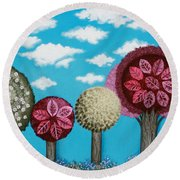 Spring Grove Round Beach Towel