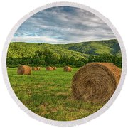 Spring Harvest Round Beach Towel