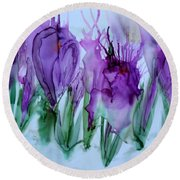 Spring Has Sprung Round Beach Towel
