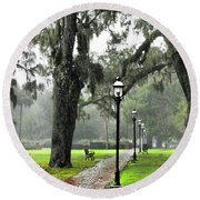 Spring In February Round Beach Towel