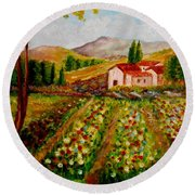 Spring In France Round Beach Towel