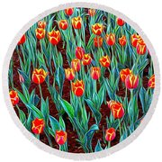 Spring In Holland Round Beach Towel