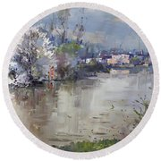 Spring In Hyde Park Round Beach Towel by Ylli Haruni