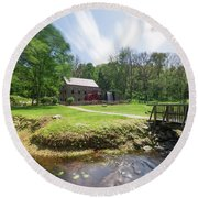 Spring In Sudbury Round Beach Towel