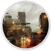 Spring In The City Round Beach Towel