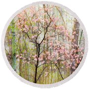 Spring In The Forest Round Beach Towel