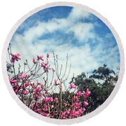 Spring In The Holy City! Round Beach Towel