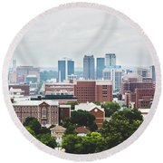 Round Beach Towel featuring the photograph Spring In The Magic City - Birmingham by Shelby Young