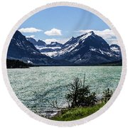 Many Glacier Round Beach Towel