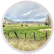 Spring In The Valley Round Beach Towel