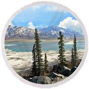 Spring In The Wrangell Mountains Round Beach Towel