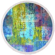 Spring Into Summer Round Beach Towel