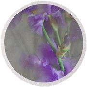 Spring Iris Bouquet Round Beach Towel by Jeff Burgess