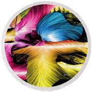 Round Beach Towel featuring the digital art Spring Is Here by Rafael Salazar