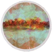 Spring Is Near Round Beach Towel