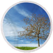 Spring Landscapes Round Beach Towel