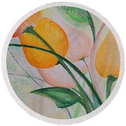 Spring Light Round Beach Towel