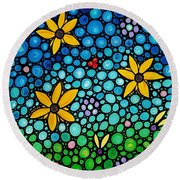 Spring Maidens Round Beach Towel by Sharon Cummings