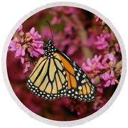 Spring Monarch Round Beach Towel