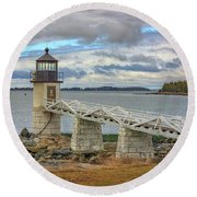 Round Beach Towel featuring the photograph Spring Morning At Marshall Point by Rick Berk