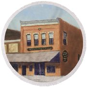 Spring Morning Downtown Round Beach Towel